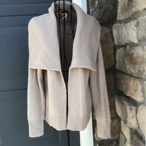 J Crew Cashmere Wool Cardigan Sweater Wide Collar